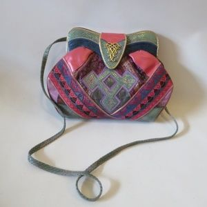 VINTAGE SHARIF PATCHWORK LEATHER/MATERIAL BAG